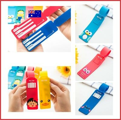 Travel Bag Tags Colourful Luggage Name Suitcase Label Address ID Card Holder