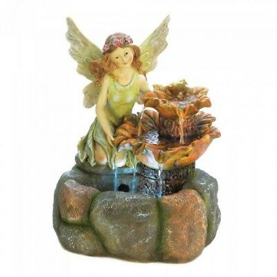 "Light Up Multi-Color Fairy Fountain 20"" Tall NIB"