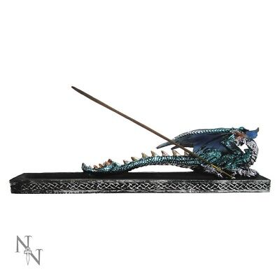 Decorative Mythical Dragon Guardian Incense Stick Holder Burner 28 Cm