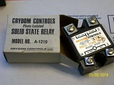 NEW CRYDOM A1210 Solid State Relay 10A 120V Output 90-280V Input