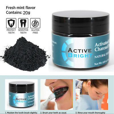 Latest 100 % Natural Activated Charcoal Whitening Tooth Teeth Powder Toothpaste