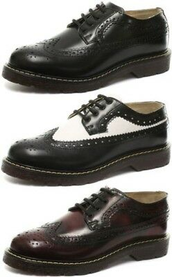 New Grinders Bertrum Mens Lace Up Brogue Shoes ALL SIZES AND COLOURS
