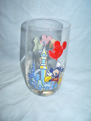 Verre Disneyland Paris Chateau Mickey Mouse Pluto Disney 12.5 Cm / D = 6.5 Cm