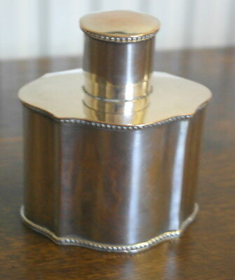 antique silver plate georgian style TEA CADDY container canister
