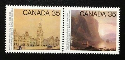 Canada #851-852a MNH, Academy of Arts Pair of Stamps 1980