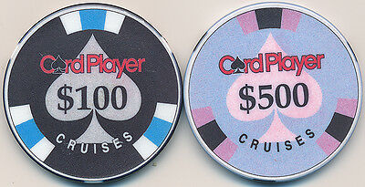 SET OF 2 CARD PLAYER CRUISES CHIPS $100 AND $500 CHIPCO CHIPS OBSOLETE 2 Chips *