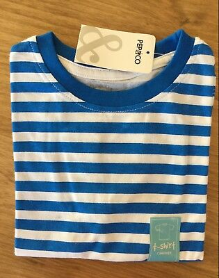 Baby Boy or Girls Blue and White or Green and White Stripe T Shirt