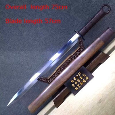 Hand-Forged straight Sword Chinese Kung Fu Saber Sword Manganese steel Blade