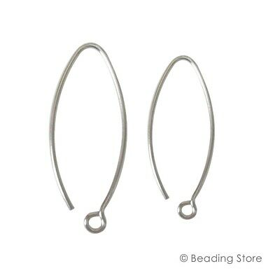 2, 20, 100 925 Sterling Silver 28mm or 36mm 21ga French Earwire Ear Wires Hooks