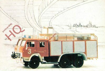Picture Postcard- FIRE ENGINE, RUSSIAN?