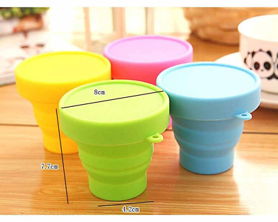 Portable Silicone Drinking Collapsible Folding Cup Travel Cups Camping