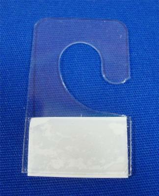 "100 Hook Style Hang Tab with Adhesive Hook Style (3/8"") Merchandise Price Tags"