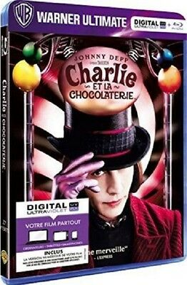 Blu Ray // CHARLIE ET LA CHOCOLATERIE // Film Tim Burton J. Depp NEUF cellophané