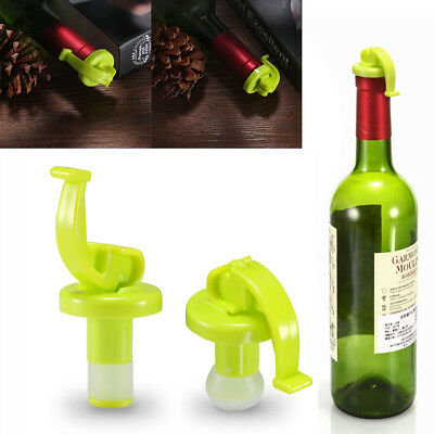 2X Vacuum Sealed Wine Champagne Bottle Stopper Cork Preserver Air Sealer Plug ES