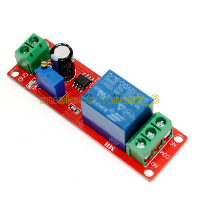 12V Delay Adjustable Timer NE555 Oscillator 0-10 Second Relay Switch Module