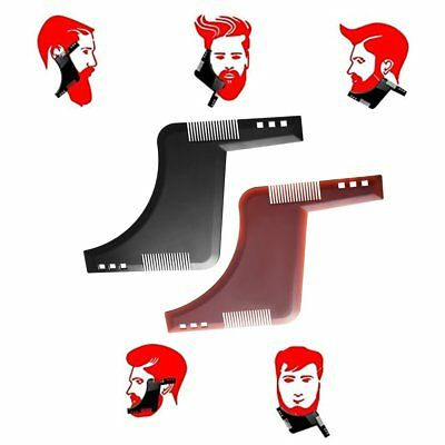 Trimmer Beard Shaping 2 Comb Styling Template Molding Bro Cut Gentlemen Tool