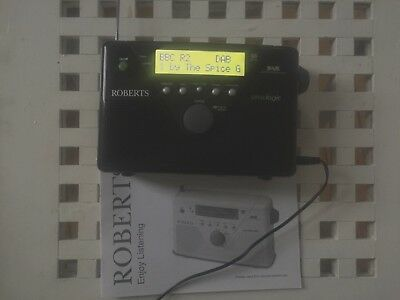 Roberts UnoLogic portable dab radio with power adapter & manual