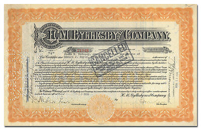 H. M. Byllesby and Company Stock Certificate