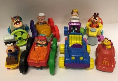 vintage 90 s mcdonalds happy meal toys rescue rangers 8 cars