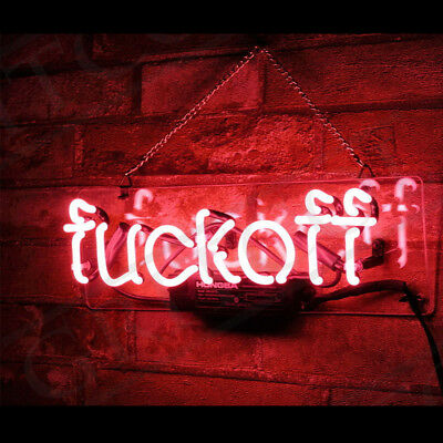 FVCK OFF Neon Sign Light Beer Bar Club Party Wall Poster Home DecorL12''x8''