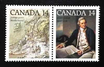Canada #763-764a MNH, Captain James Cook Pair of Stamps 1978