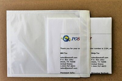 Clear Packing List Envelopes, Invoice/Receipt Slips, Plain Poly Pouches No Print