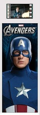 THE AVENGERS Marvel Captain America 2012 MOVIE FILM CELL and PHOTO BOOKMARK New