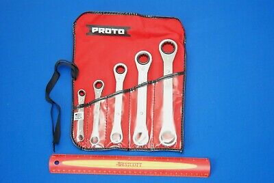 NEW Proto USA MADE 5 Pc SAE Ratcheting Box Wrench Set J1190A SHIPS FREE