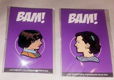 Exclusive Stranger Things Enamel Pin Set Of Mike U0026 Eleven BAM BOX #/375 MINT