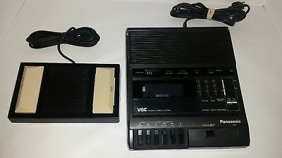 Panasonic RR-830 Standard Cassette Transcriber Machine / Recorder & Foot Control