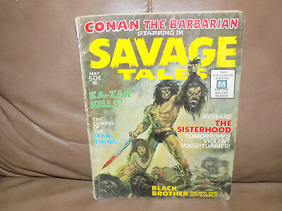 Conan The Barbarian Starring In Savage Tales Magazine Vol. 1 No. 1 May 1971