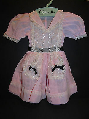 """Stunning 30"""" Pink and White Dress with exquisite lace trim Mint!"""