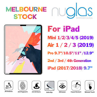 NUGLAS Screen Protector for iPad Mini Air 1 2 3 4 5 6 Pro 9.7 10.5 11 12.9 2019