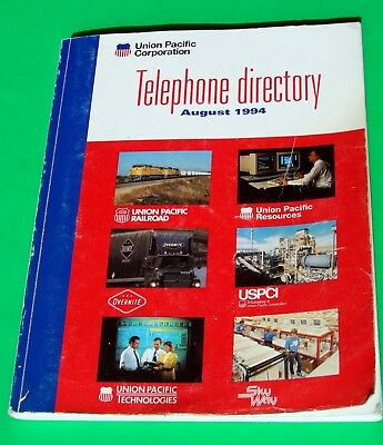 Union Pacific Corporation,(Railroad} Telephone Directory Dated: August 1994