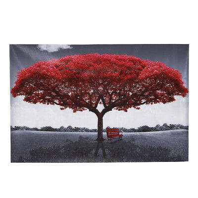 Modern Red Love Tree Canvas Print Painting Picture Art Wall Home Decor Unframed