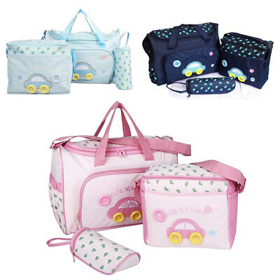 UK NEW 4pcs Cute diaper bags Baby nappy changing bag set