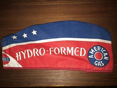 Vintage 1950's-60's Amoco Gas Station Attendant Hat - Hydro-Formed American Gas