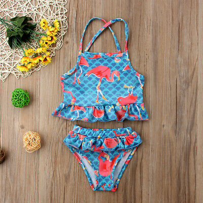 Canis Toddler Kids Baby Girls Bikini Swimwear Swimsuit Bathing Suit Beachwear AU