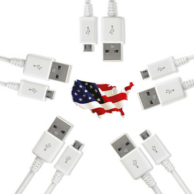 5 Pack Micro USB Charger Fast Charging Cable Cord For Samsung Android Phone