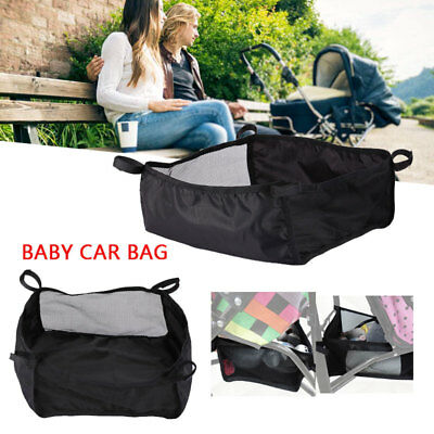 Black Under Storage Hanging Net Bag For Buggy Stroller Pram Basket Shopping