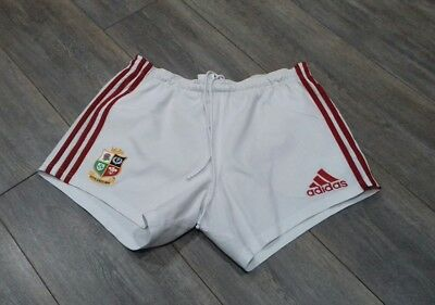 0a514800 BRITISH LIONS RUGBY shorts 34 waist south Africa tour 2009 Adidas white  union UK