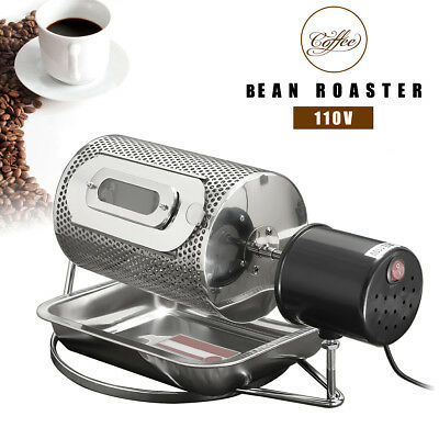 Household Electric Coffee Bean Nut Roasters Baking Home Machine + Tray 110V