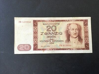 20 Mark Banknote DDR 1964