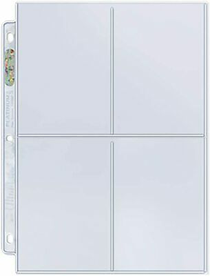 25 x ULTRA PRO 4 POCKET PLATINUM SERIES SLEEVES PAGES LARGE CARDS POSTCARDS