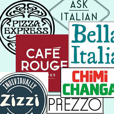 £40 TESCO Vouchers BELLA ITALIA PIZZA EXPRESS ASK ITALIAN CAFE ROUGE CHEF BREWER