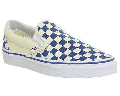 2db296a07cb4 MENS VANS VANS Classic Slip On Trainers TRUE BLUE CLASSIC WHITE  CHECKERBOARD Tra - EUR 35