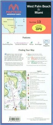 Florida: West Palm Beach to Miami Waterproof Chart, 3rd Edition