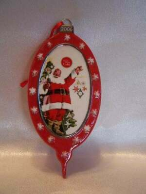 2006 Dept 56 Coca-Cola Santa Christmas Glass Ornament New in Box