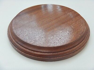 Round Display Model Plinth Base Solid Sapele Very High Quality UK Yorkshire