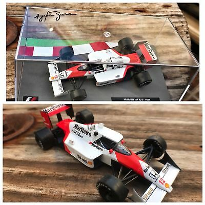 Calcas F1 McLaren Mp4/4 1988 + Firma Senna 1:43 / F1 Decals McLaren Mp4/4 1988